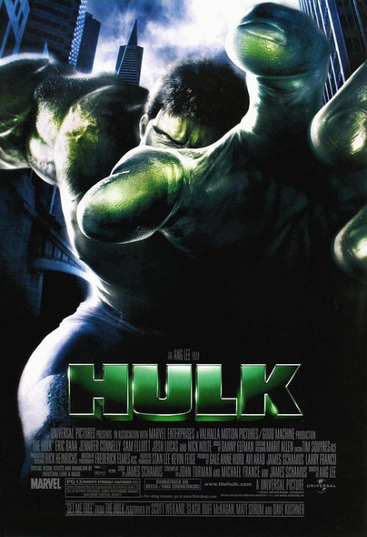 THE HULK (Double Sided Regular) ORIGINAL CINEMA POSTER