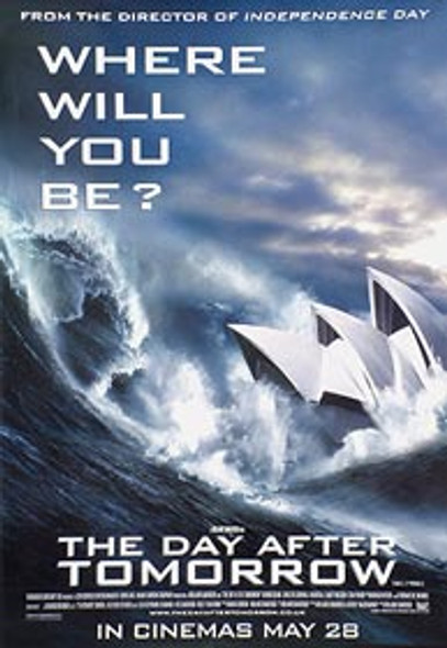 THE DAY AFTER TOMORROW (Sydney Opera House) ORIGINAL CINEMA POSTER