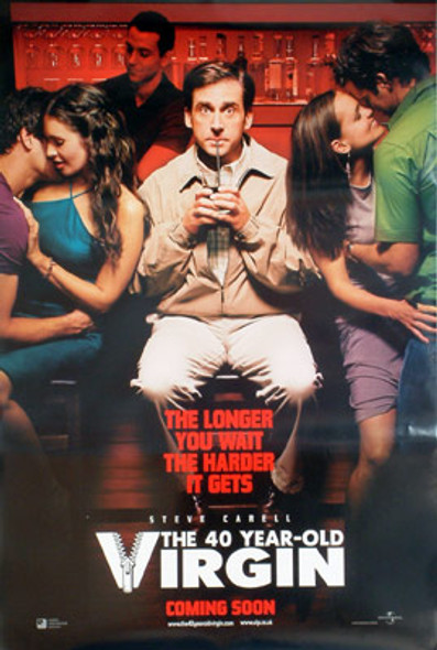 THE 40 YEAR-OLD VIRGIN (Double Sided Advance) ORIGINAL CINEMA POSTER