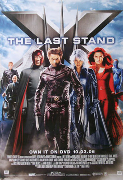 X-MEN: THE LAST STAND (Single Sided Video) ORIGINAL VIDEO/DVD AD POSTER