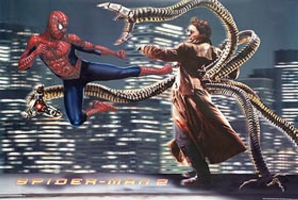 SPIDERMAN 2 (Colliding Reprint) REPRINT POSTER