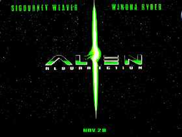 ALIEN RESURRECTION (Advance) (DOUBLE SIDED) ORIGINAL CINEMA POSTER