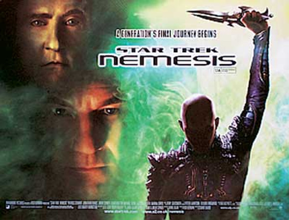 STAR TREK NEMESIS (Double sided) ORIGINAL CINEMA POSTER