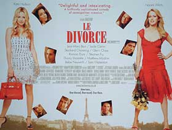 LE DIVORCE (DOUBLE SIDED) ORIGINAL CINEMA POSTER