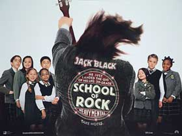 SCHOOL OF ROCK (DOUBLE SIDED) ORIGINAL CINEMA POSTER