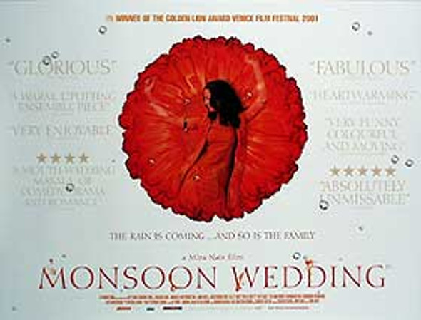 MONSOON WEDDING (Flower) ORIGINAL CINEMA POSTER