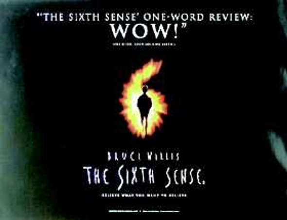 THE SIXTH SENSE (DOUBLE SIDED) ORIGINAL CINEMA POSTER