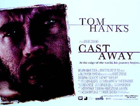 CAST AWAY ORIGINAL CINEMA POSTER