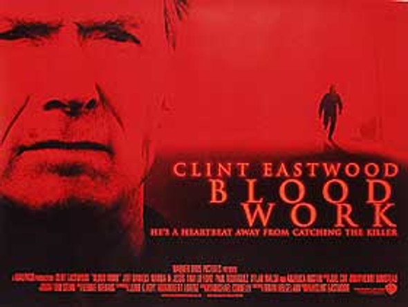BLOOD WORK (Double Sided) ORIGINAL CINEMA POSTER