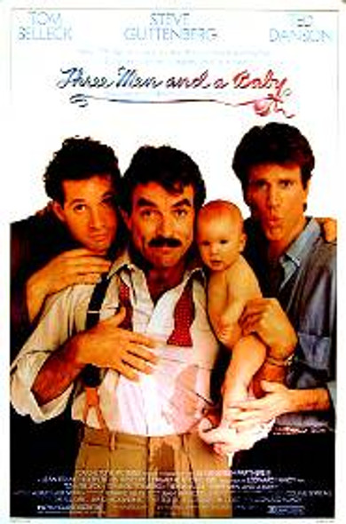 THREE MEN AND A BABY ORIGINAL CINEMA POSTER