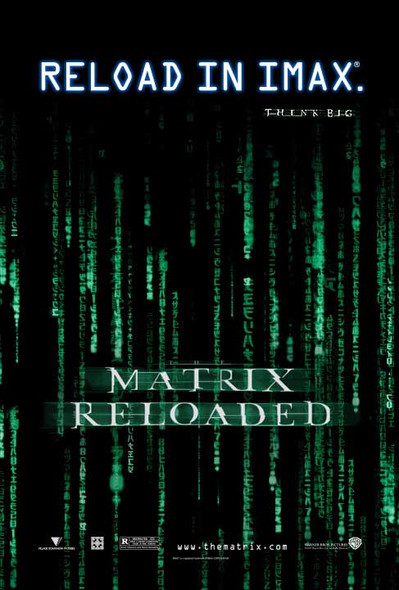 THE MATRIX RELOADED (Double Sided Imax) ORIGINAL CINEMA POSTER