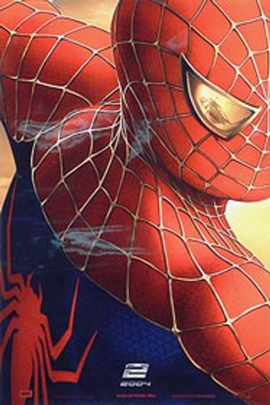 SPIDERMAN 2 (Double Sided International Advance) (UV COATED/HIGH GLOSS) ORIGINAL CINEMA POSTER