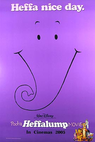 POOH'S HEFFALUMP MOVIE (Double Sided Advance) ORIGINAL CINEMA POSTER