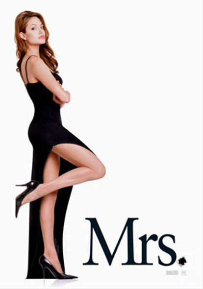 MR. & MRS. SMITH (Double Sided Advance Mrs) ORIGINAL CINEMA POSTER