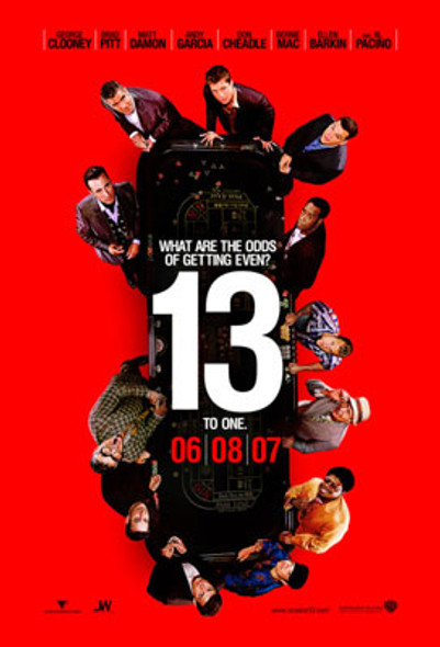 OCEAN'S THIRTEEN (Double Sided Advance) ORIGINAL CINEMA POSTER