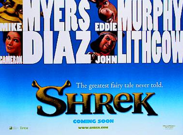 SHREK ORIGINAL CINEMA POSTER