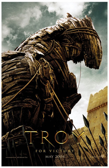 TROY (Single Sided Advance Horse) (UV COATED/HIGH GLOSS) ORIGINAL CINEMA POSTER