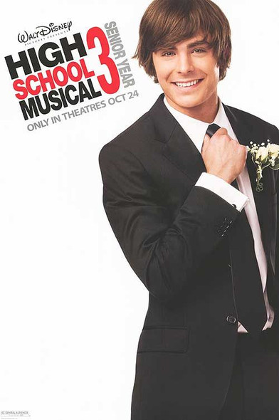 HIGH SCHOOL MUSICAL 3: THE SENIOR YEAR (Troy) ORIGINAL CINEMA POSTER