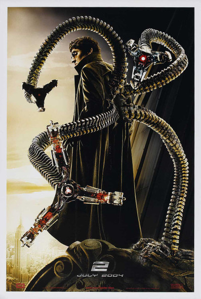 SPIDERMAN 2 (Single Sided Advance Rare) ORIGINAL CINEMA POSTER