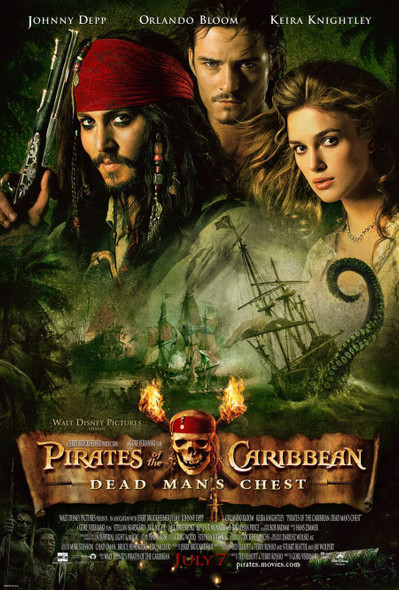 PIRATES OF THE CARIBBEAN: DEAD MAN'S CHEST (Double Sided Regular) ORIGINAL CINEMA POSTER