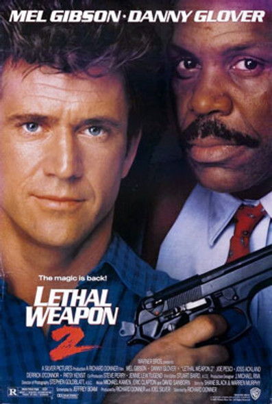 LETHAL WEAPON 2 (Double Sided Regular) ORIGINAL CINEMA POSTER