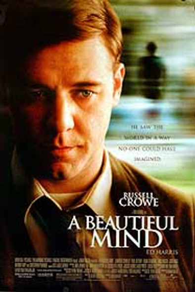 A BEAUTIFUL MIND (Double Sided Regular) ORIGINAL CINEMA POSTER