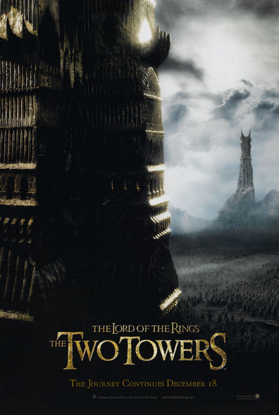THE LORD OF THE RINGS: THE TWO TOWERS (Double Sided Advance) ORIGINAL CINEMA POSTER