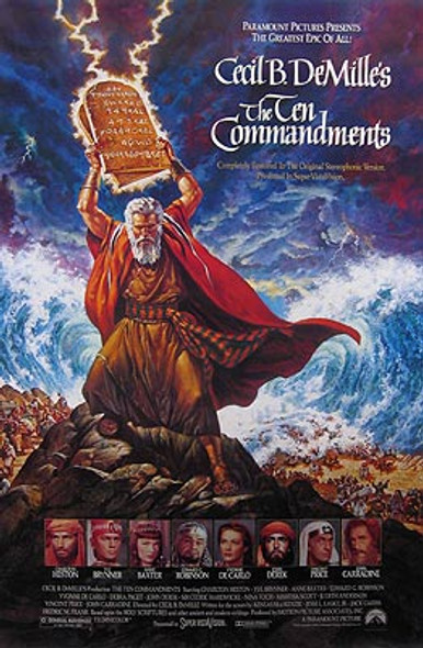 THE TEN COMMANDMENTS (1989 Re-release) ORIGINAL CINEMA POSTER