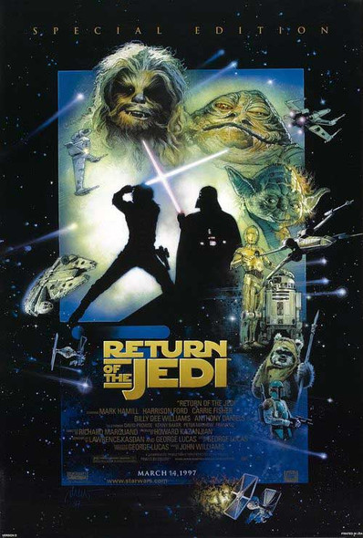RETURN OF THE JEDI (1997 Re-release) ORIGINAL CINEMA POSTER