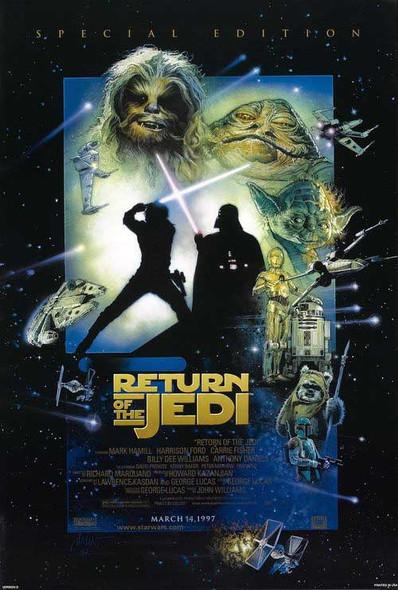RETURN OF THE JEDI (1997 Re-release) ORIGINAL CINEMA POSTER