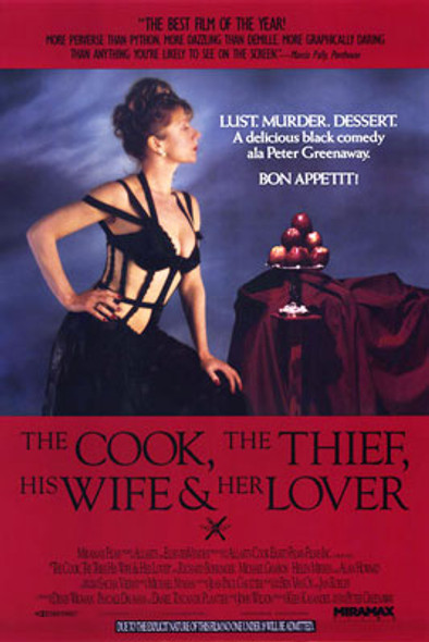 THE COOK THE THIEF HIS WIFE & HER LOVER (Single Sided Regular) ORIGINAL CINEMA POSTER