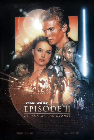 STAR WARS EPISODE 11 - ATTACK OF THE CLONES (REG B - DOUBLE SIDED) ORIGINAL CINEMA POSTER