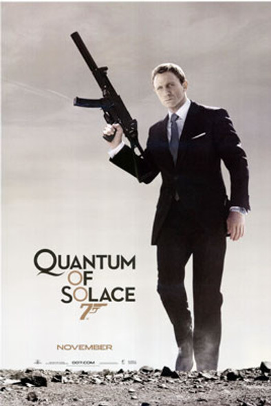 QUANTUM OF SOLACE ORIGINAL CINEMA POSTER