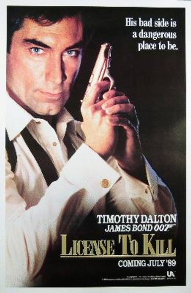 LICENCE TO KILL (Single Sided Advance) ORIGINAL CINEMA POSTER