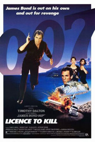LICENCE TO KILL (Single Sided International) ORIGINAL CINEMA POSTER
