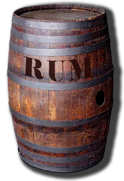 Barrel Of Rum - Lifesize Cardboard Cutout / Standee