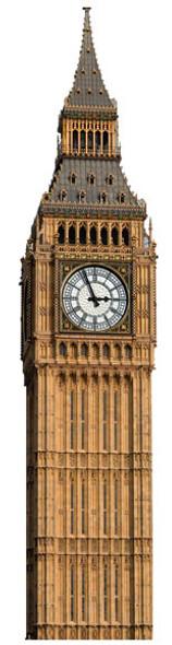 Big Ben (Clock) - Lifesize Cardboard Cutout / Standee