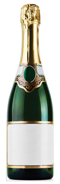 Champagne Bottle Cutout