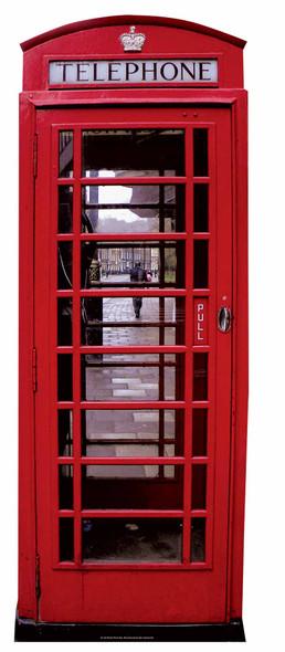 Classic British Red Telephone Box Lifesize Cardboard Cutout / Standee