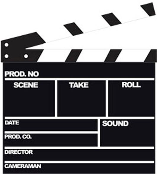 Film Clapper - Lifesize Cardboard Cutout / Standee