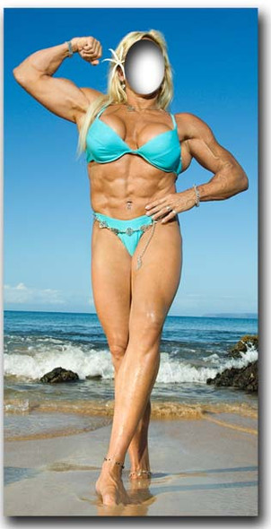 Muscle Woman Stand- In - Lifesize Cardboard Cutout / Standee