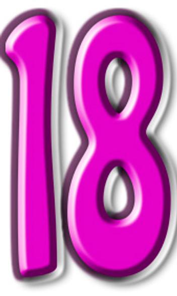 Number 18 - Lifesize Cardboard Cutout / Standee