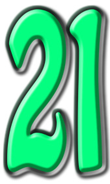 Number 21 - Lifesize Cardboard Cutout / Standee