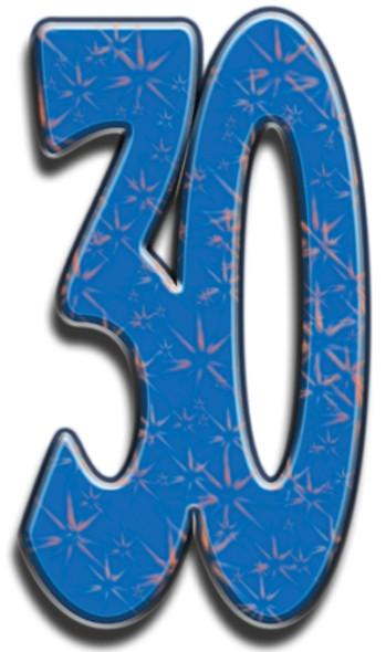 Number 30 - Lifesize Cardboard Cutout / Standee