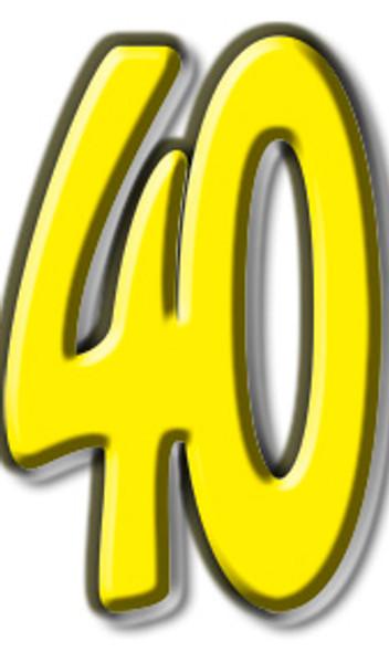 Number 40 - Lifesize Cardboard Cutout / Standee