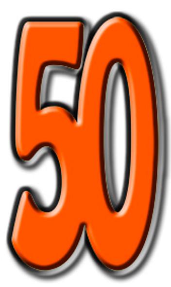 Number 50 - Lifesize Cardboard Cutout / Standee