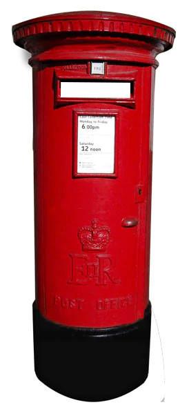 Red Post Box Cutout