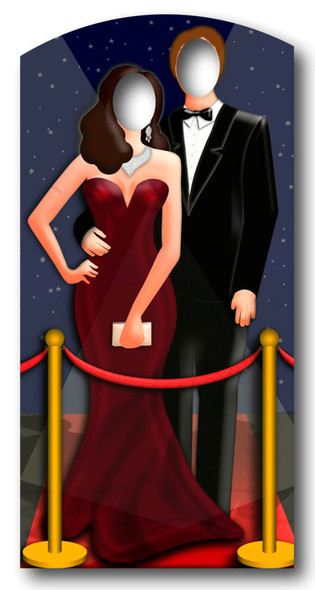 Red-Carpet/ Hollywood Couple Stand In - Lifesize Cardboard Cutout / Standee
