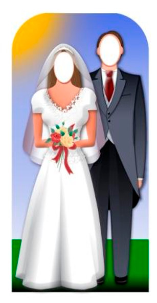 Wedding Couple Stand-In - Lifesize Cardboard Cutout / Standee