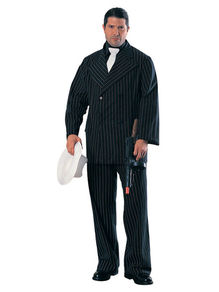 Gangster Wearing Black pinstripe Suit - Gangsters & Molls - Lifesize Cardboard Cutout / Standee